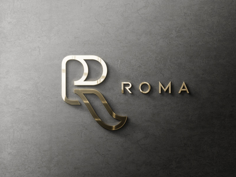 ROMA minimal typography type logo illustrator illustration icon flat design branding
