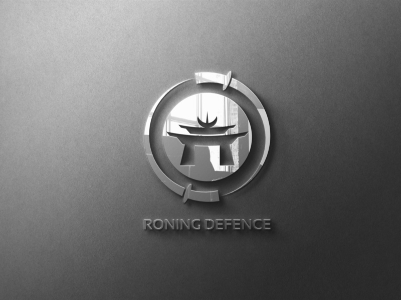 RONING DEFENCE typography type logo illustrator illustration icon flat design branding