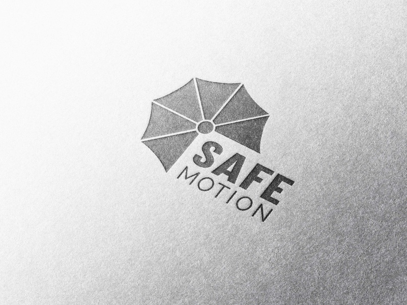 SAFE MOTION minimal type typography logo illustrator illustration icon flat design branding