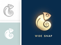 WIDE SNAP type vector typography logo illustrator illustration icon flat design branding