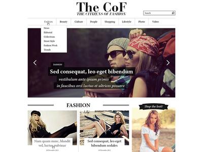 The CoF - sneak peek homepage