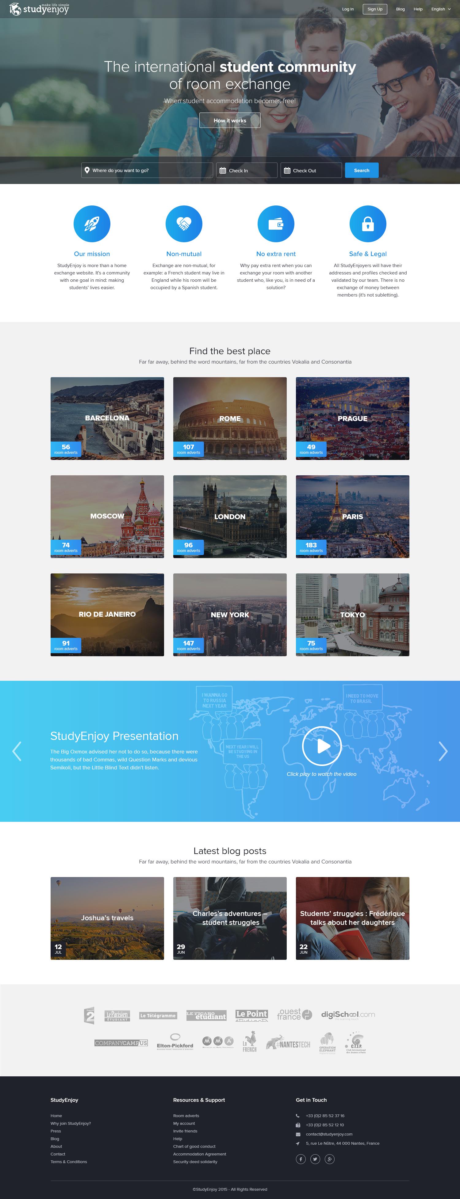 Studyenjoy homepage