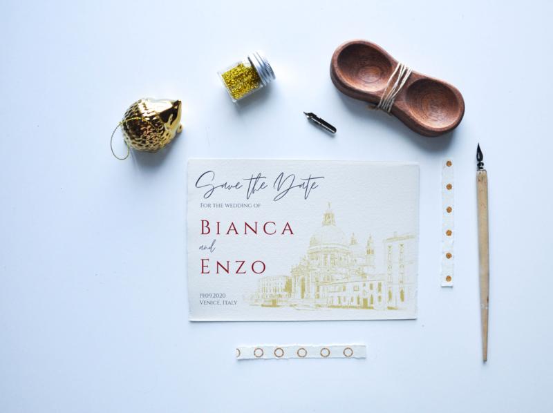 Italian Wedding - Save the date wedding invitation event savethedate wedding