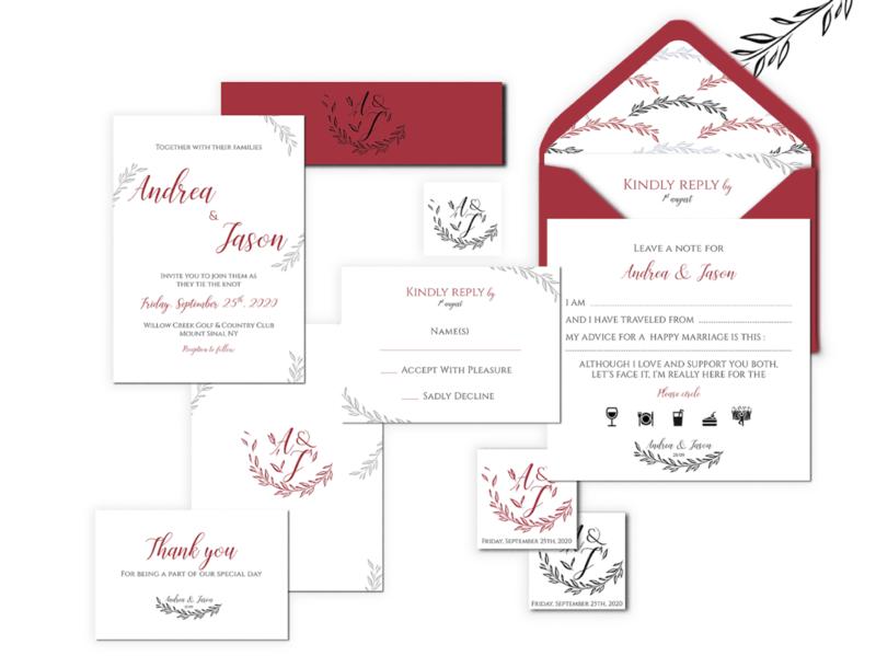 Andrea & Jason - Wedding Stationery event logo invitation wedding invitation wedding