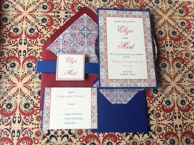 Turkish Wedding Invitation pattern card turkish event wedding wedding invitation