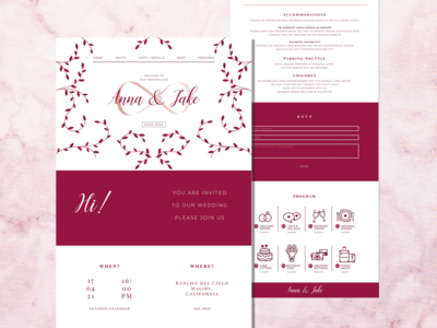 Anna & Jake's Wedding Website party event design wedding webiste website template wedding invitation