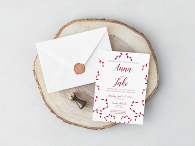 Anna & Jake's Invitation design invitation event card wedding wedding invitation