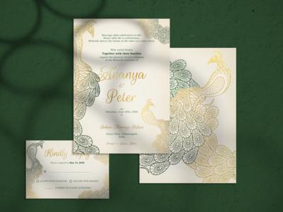 Peacock Wedding Invitation peacock hinduweddings hindu event illustration card invitation wedding wedding invitation
