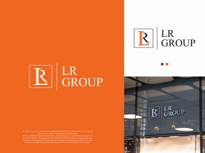 LR Group logo illustration businesscard brand logo brand identity brand design design branding