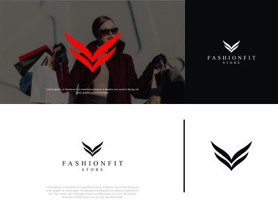 FashionFit Store Logo fashion businesscard brand brand design design logo brand identity branding