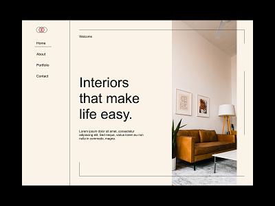 Interior Design Website Concept ux minimal web visual design minimalist typogaphy design