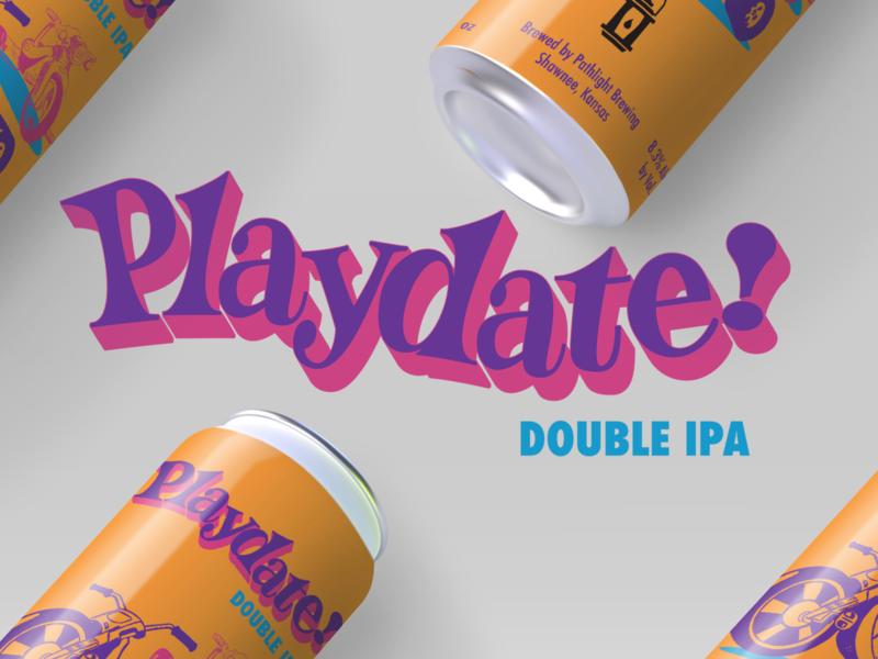 Pathlight Brewing Playdate Label Lettering & Design branding handlettering illustration typography design type lettering