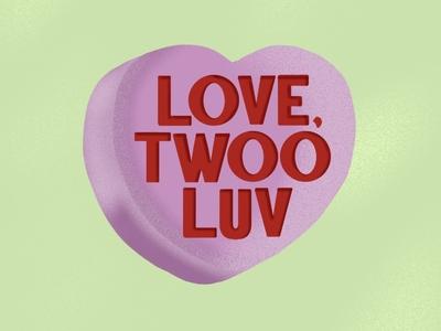 True Love Heart Lettering