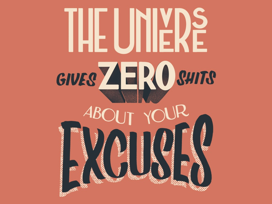 The Universe Gives Zero Shits Lettering sign writing brush lettering art deco typography design type lettering