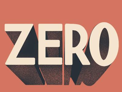Zero San Serif Lettering