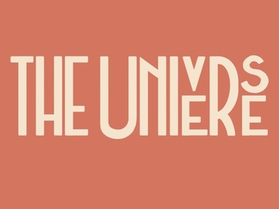 The Universe Lettering