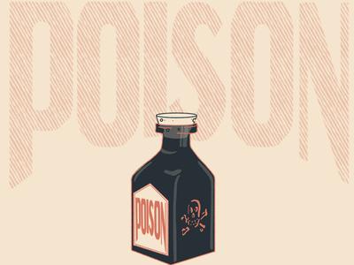 Poison Lettering & Bottle