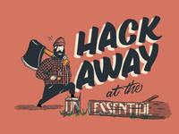 Hack Away Lettering