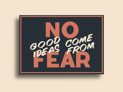 No Fear Sign Lettering