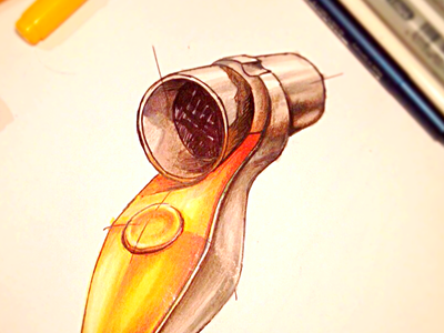 Spirometr sketching product design medical equipment copic sketch industrial design concept
