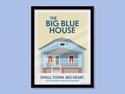 Big Blue House house poster illustration vector design thatrichardroberts