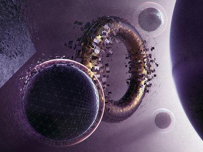 Cosmos chaos explosion cosmos space color ring planet photoshop render 4d cinema