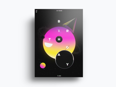 Poster Design project fun emoji birthday crazy abstract minimal art design color poster