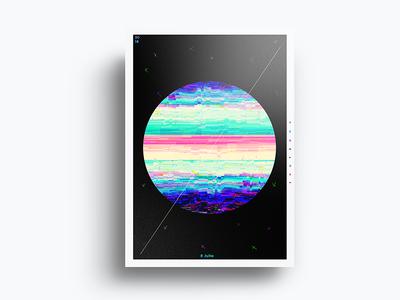 Poster Design glitch project poster minimal fun emoji design crazy color birthday art abstract