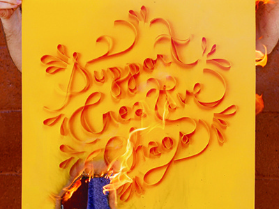 Support Creative Chaos paper creativity quilling analog