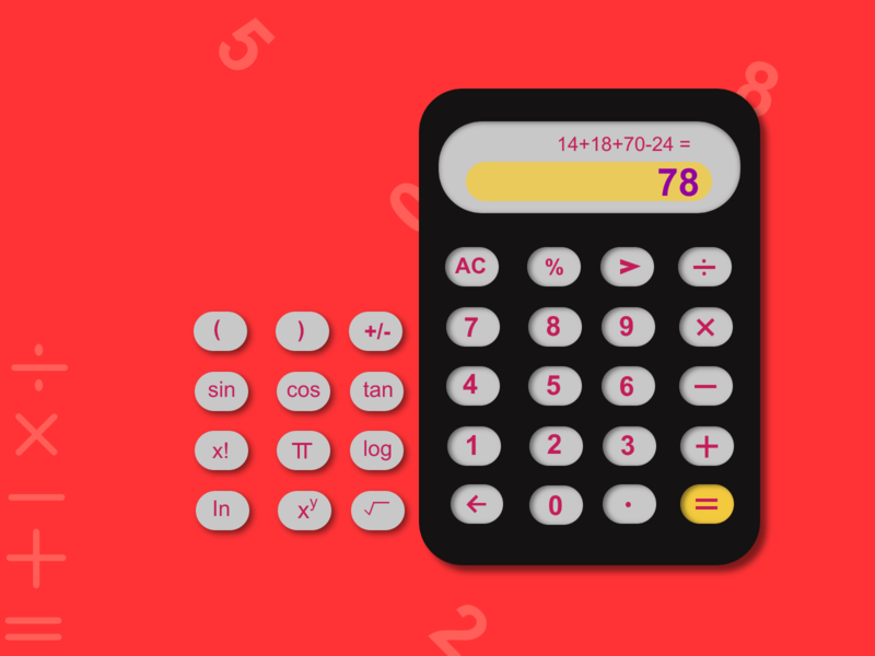 Daily UI#004 - calculator design online calculator ui scientific design invision easy calculator ui daily ui daily 100 challenge studio