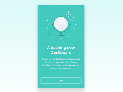 New dashboard announcement new feature announcement pop-up overlay announcement new new feature
