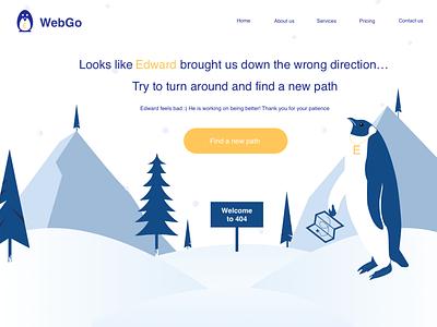 Error 404 Page 🐧 penguin winter