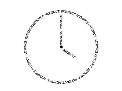 Patience 🕓 clock