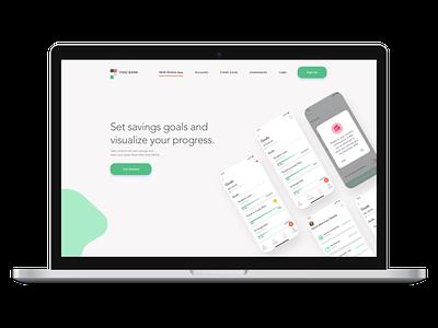Figo Bank Marketing Website | Mockup banking website banking fintech