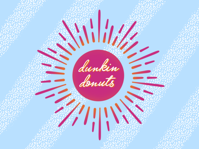 Dunkin Rebrand dribbbleweeklywarmup logo design branding illustration
