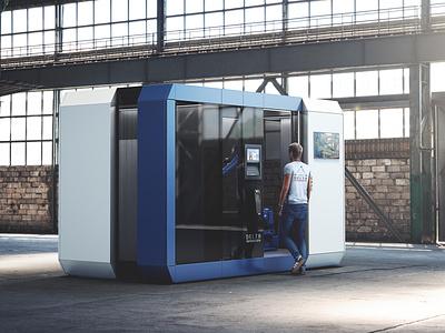 Production cabin modular automatic design industrial industrial design robotic 3ddesign deltaautomation industrialdesign