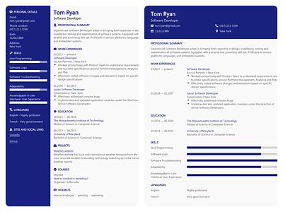 Resume Templates - FastCV Maker web ux minimal cv cv design template resume design