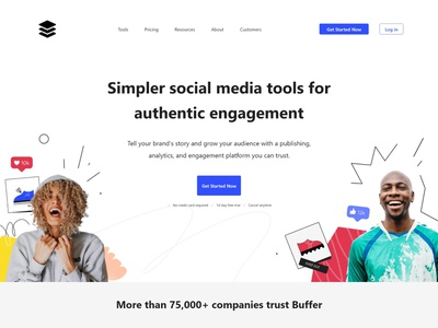Buffer web template free template web template ux designs ux interface designer uiux ui interface design free shopify themes free ppt