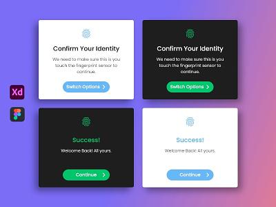 Confirmation Pop-Up for web, iOS and Android graphic design ux designer ui designer design uiux pop-up ui ui design template pop-up xd figma ux