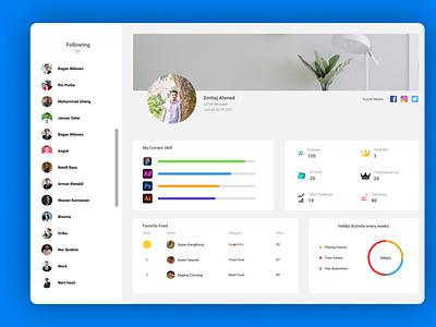 Daily UI challenge User Profile ux graphic design ui user dashboard dashboard design website design user profile ui challenge daily ui daily ui challenge