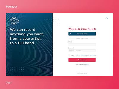 DailyUI #001, sign up dailyui minimal log in form website web ux ui sign up design dailyui 001