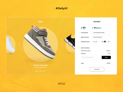 DailyUI #002, checkout minimal checkout shoes website web ux ui form design dailyui 002 dailyui
