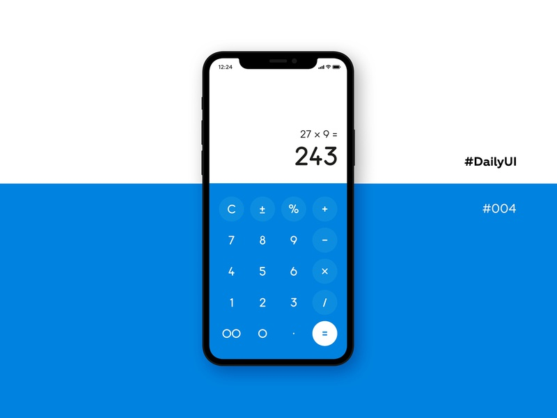 DailyUI #004, calculator