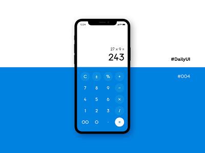 DailyUI #004, calculator daily challange dailyui 004 mobile ui mobile app calculator ux ui minimal dailyui