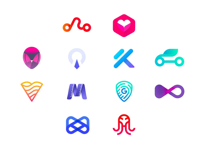 My Latest Logo Collection - Marks for mobile apps logo dating security monogram social music map pin infinite corporate job fitness gym car m k g mail box shield