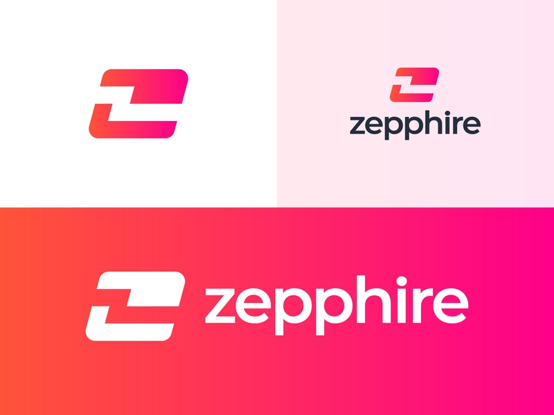 Z + Card Logo for Zepphire budget z student fast cash money bank banking credit revlout card payment monogram branding app icon mark 2d 3d logo