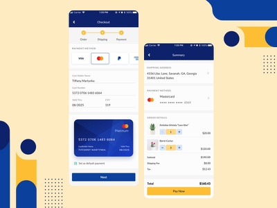 [DailyUI-002] Credit Card Checkout challenge design shot dailyui002 dailyui ecommerce creditcard ux ui mobile payment form payment method checkout