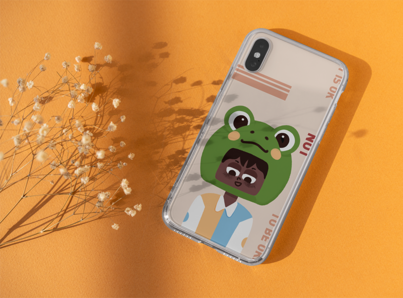 cute profile picture phone case cute illustration