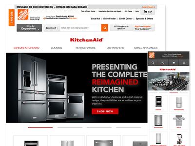 KitchenAid Home Depot Microsite Redesign