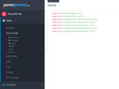 Parseground Dashboard Cloud Code